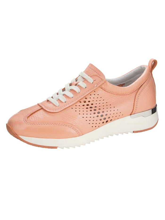 Caprice Sneaker van zacht hertennappa, Apricot