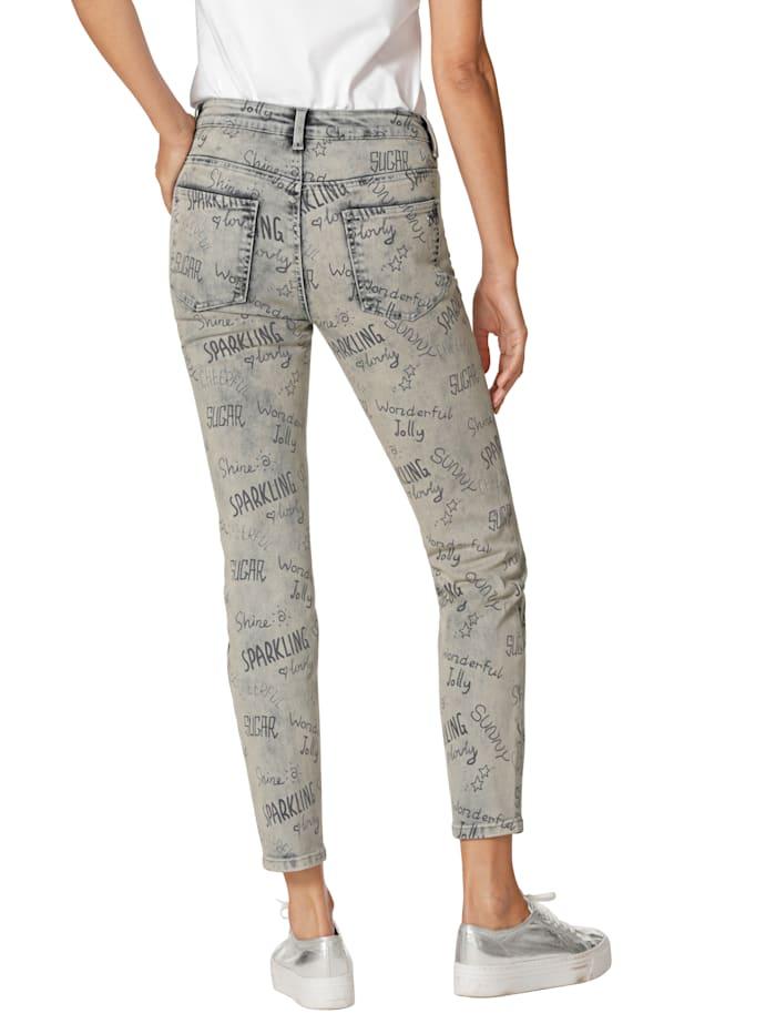 Jeans met print rondom