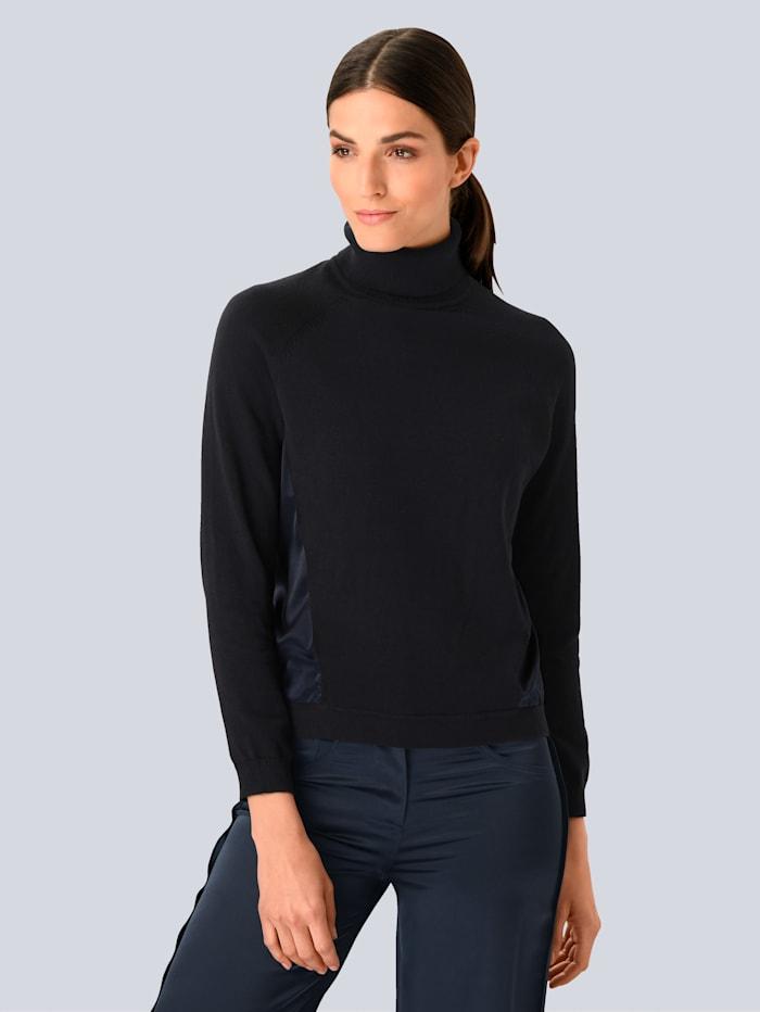 Alba Moda Pullover mit Seide, Marineblau