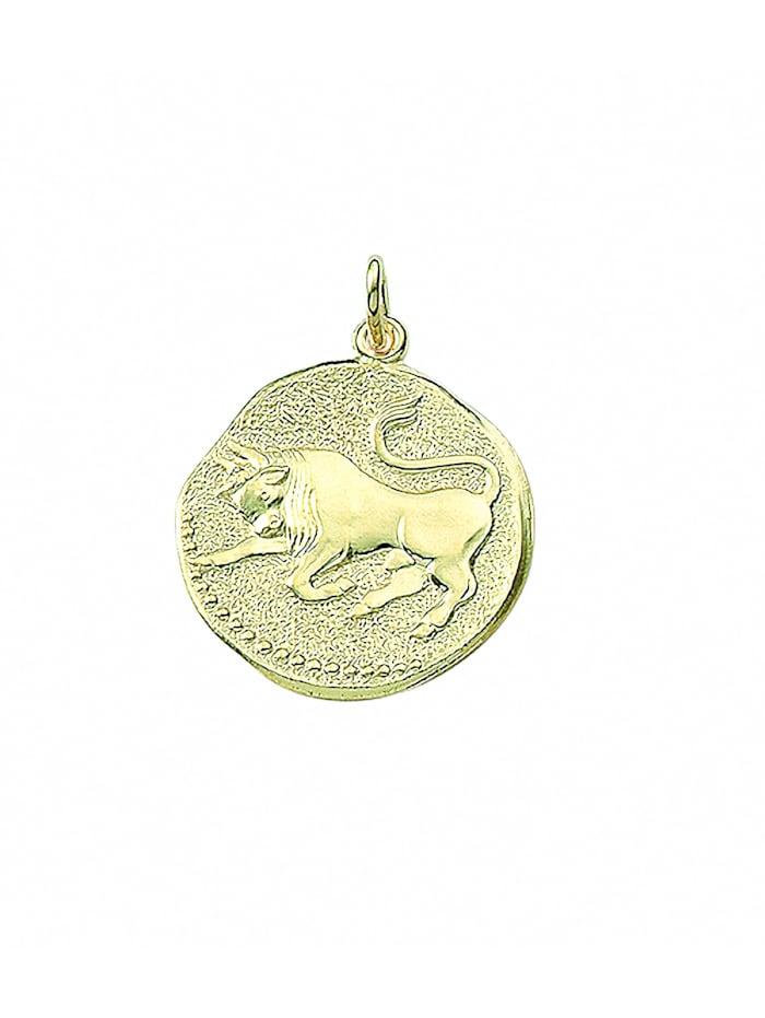 1001 Diamonds Damen & Herren Goldschmuck 333 Gold Sternzeichen Anhänger Stier Ø 18,2 mm, gold
