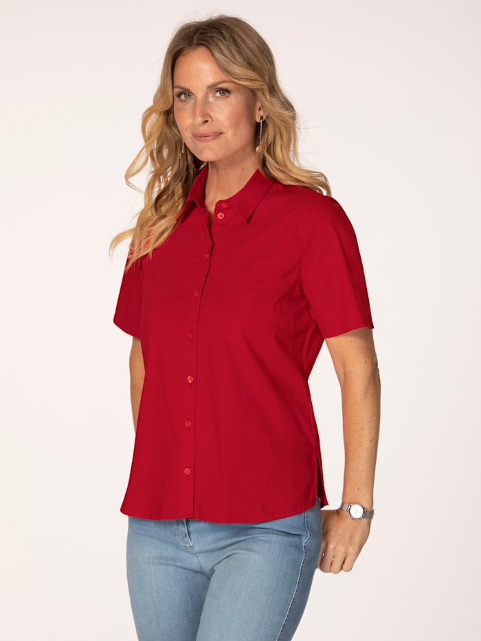 MONA Blouse with short sleeves, Red