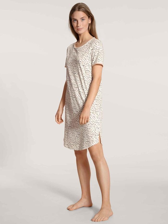 Calida Kurzarm-Sleepshirt, Länge 95cm STANDARD 100 by OEKO-TEX zertifiziert, lace parfait