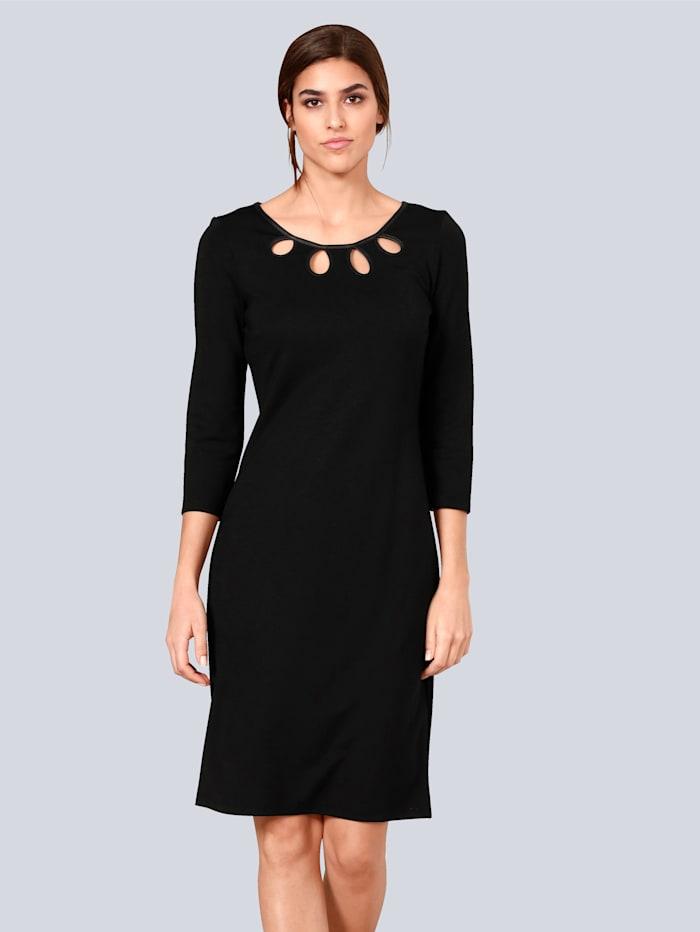 Alba Moda Kleid mit modischen Cut-Outs am Ausschnitt, Schwarz