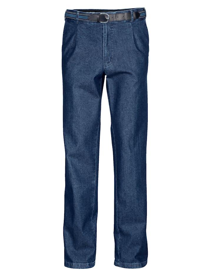 BABISTA Jean à pinces et ceinture, Bleu