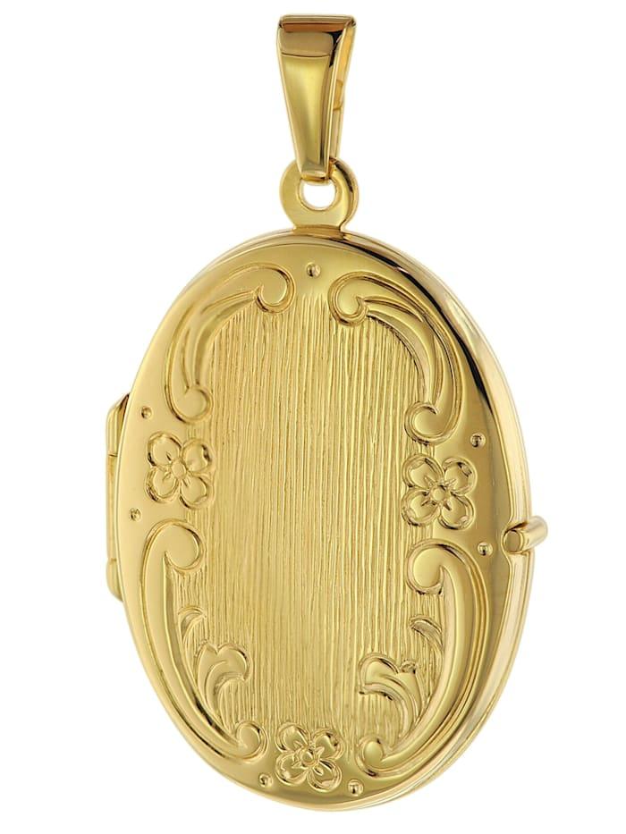 trendor Medaillon mit Gravur Gold 333 / 8K, Goldfarben