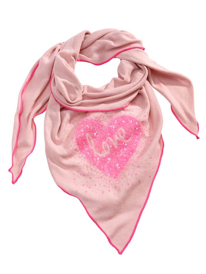 Angel of Style Šál trojuholníkový tvar s modernou potlačou, Ružová/Pink
