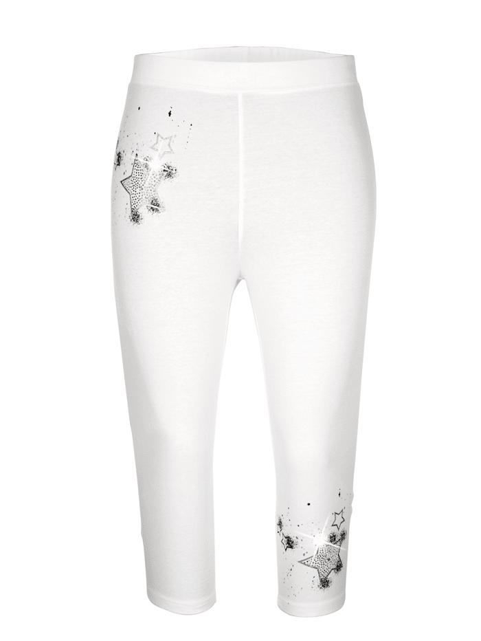 MIAMODA Caprihose in elastischer Jerseyqualität, Weiß