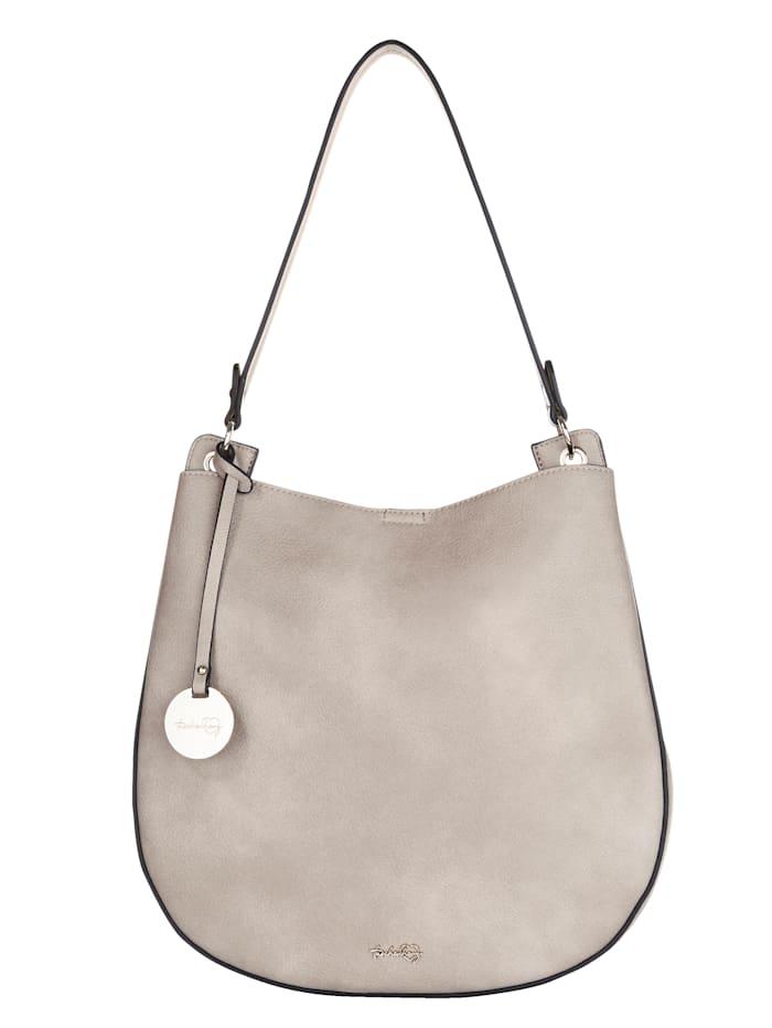 Taschenherz Shopper 2-tlg. mit abnehmbaren Taschenherz-Anhänger 2-teilig, Stein