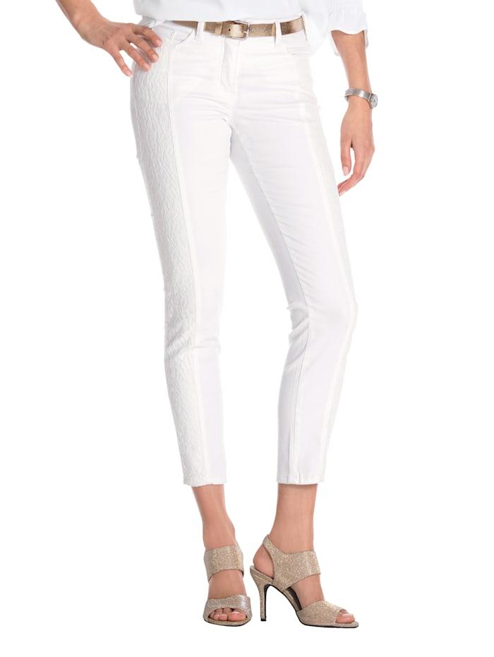AMY VERMONT Jeans met beleg van kant, Wit