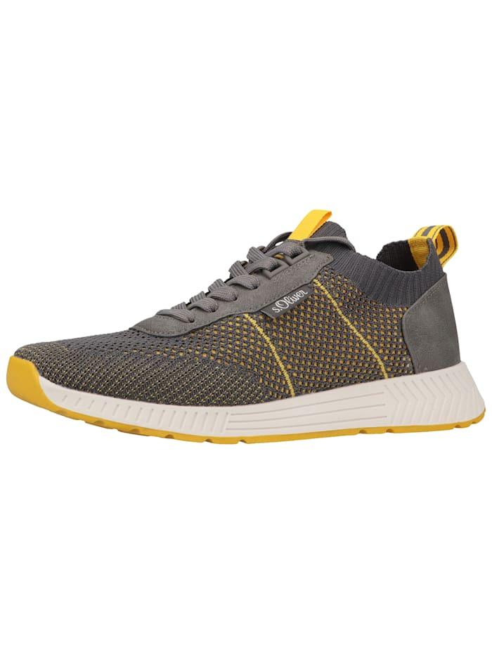 s.Oliver s.Oliver Sneaker, Grau/Gelb
