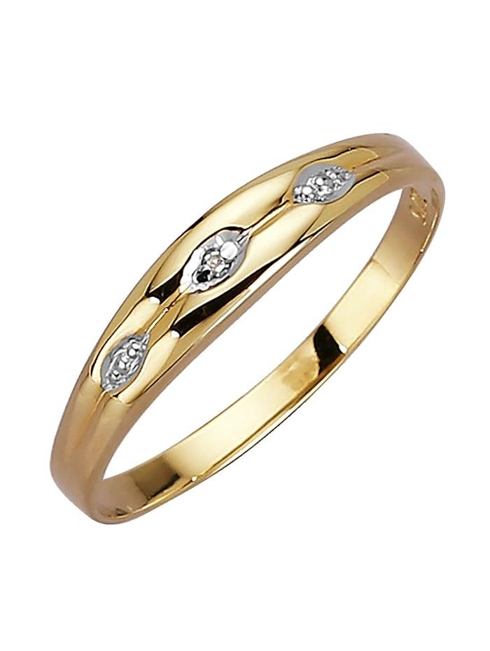 KLiNGEL Damenring mit Diamant, Gelb