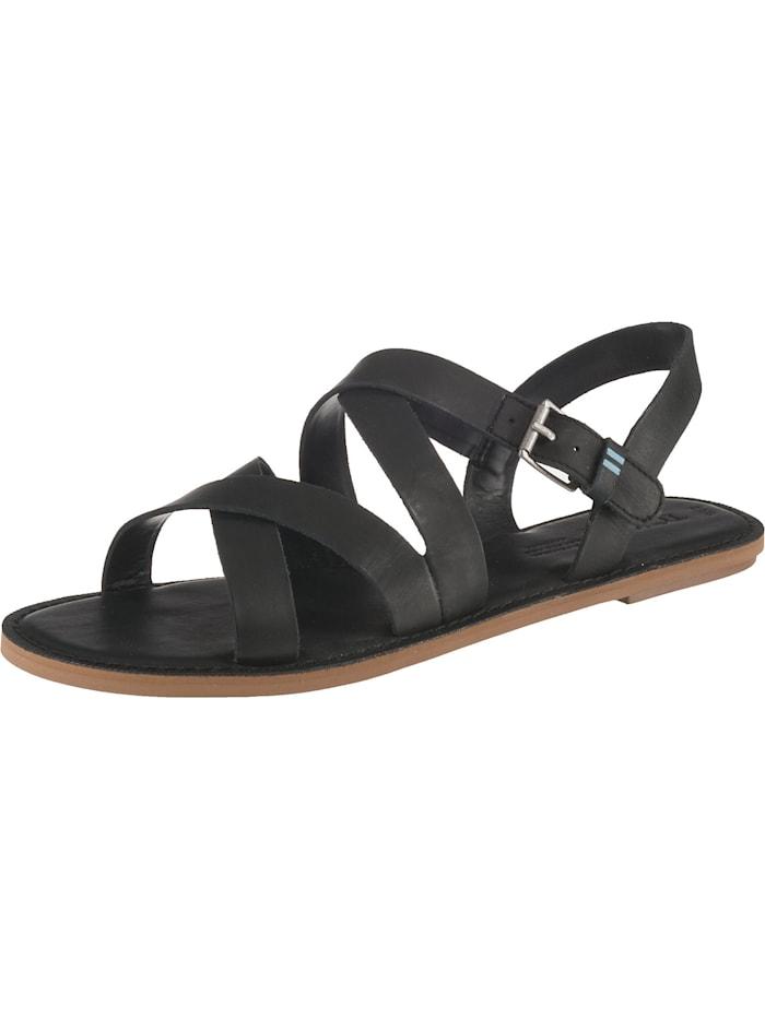TOMS Sicily Klassische Sandalen, schwarz