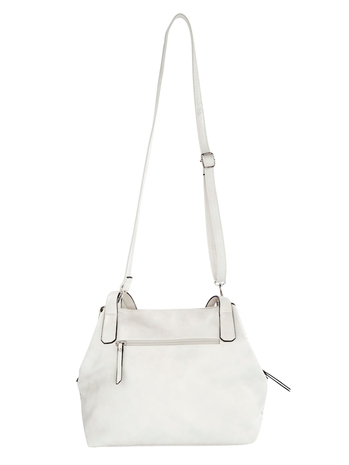 Handbag in a weave-effect finish