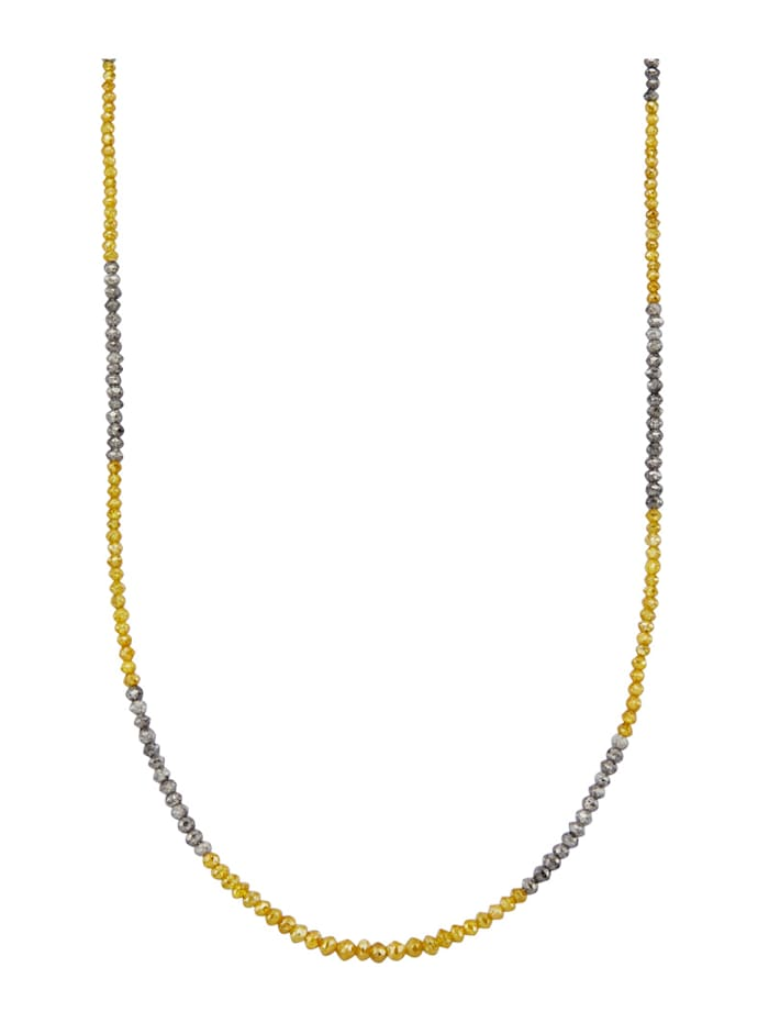 Amara Diamants Collier diamants en or jaune 585, Multicolore