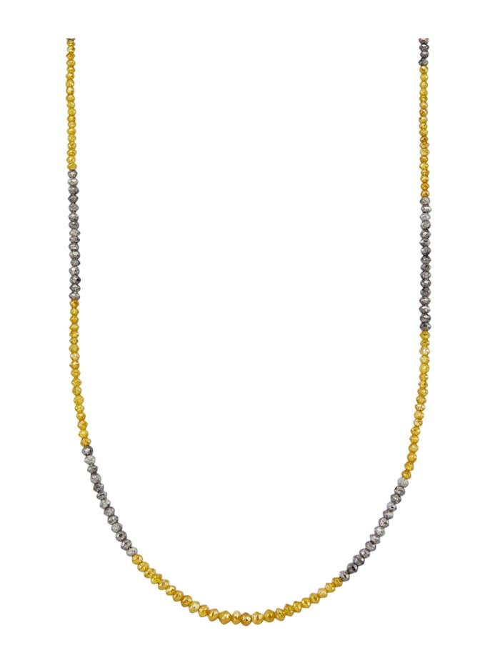 Diemer Diamant Collier diamants en or jaune 585, Multicolore