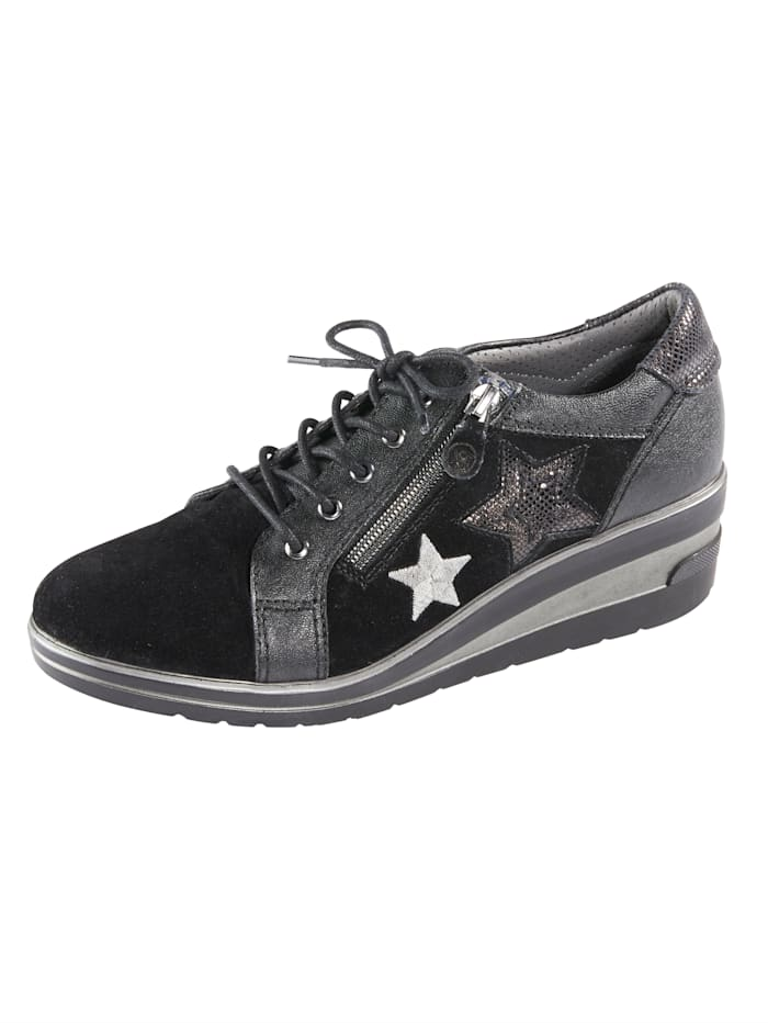 Naturläufer Trainers with star embellishments, Black