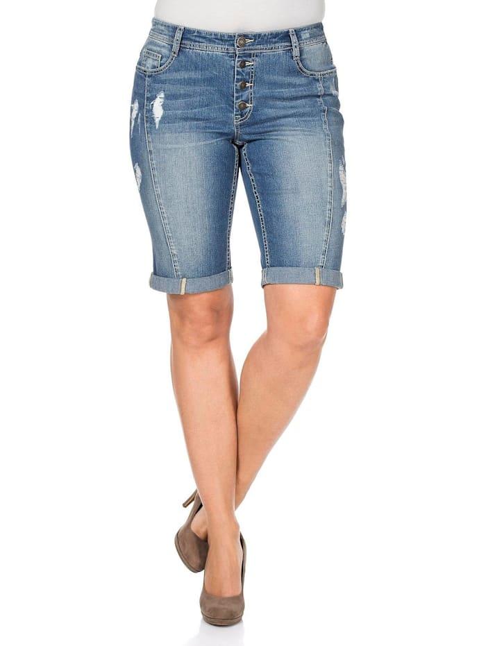 Sheego Sheego Jeans-Bermudas, light blue Denim