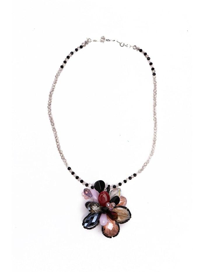 Collezione Alessandro Kurze Luxus Kette Hanami geschliffene Glasperlen, mehrfarbig