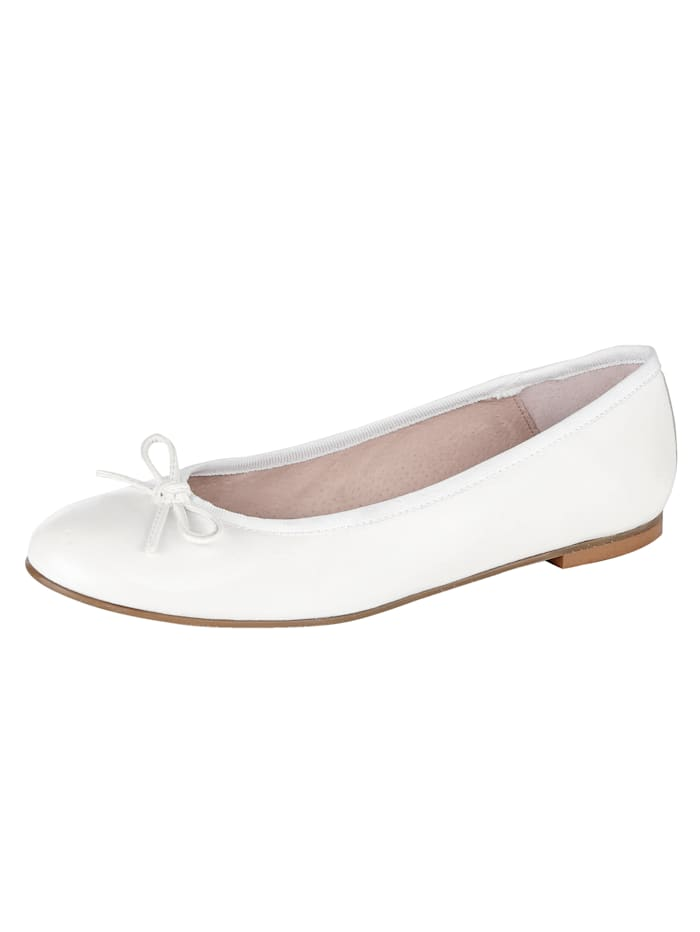 Ballet Court shoes made from soft Nappa leather, White