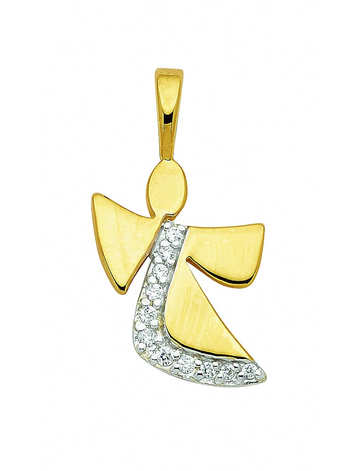 1001 Diamonds Damen Silberschmuck 925 Silber Anhänger mit Zirkonia, silber
