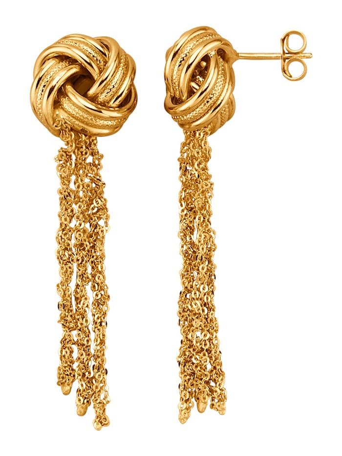 Diemer Highlights Ohrringe in Silber 925, vergoldet, Gelbgoldfarben