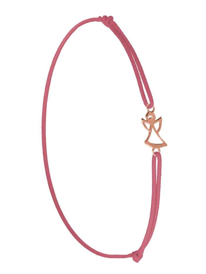 1001 Diamonds Engel Armband 925 rosé Silber, rosa