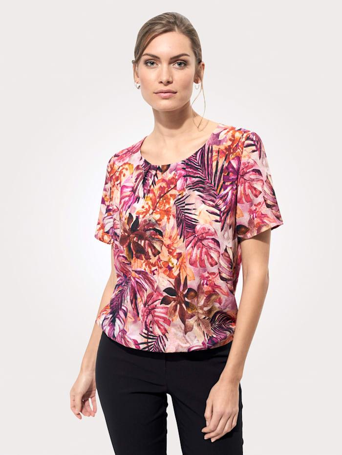 MONA Blouse à imprimé floral, Rose/Corail/Baies