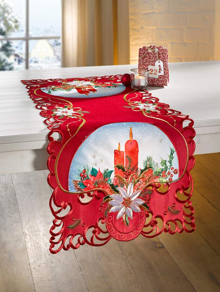 Webschatz Tischwäsche 'Cloe', Rot
