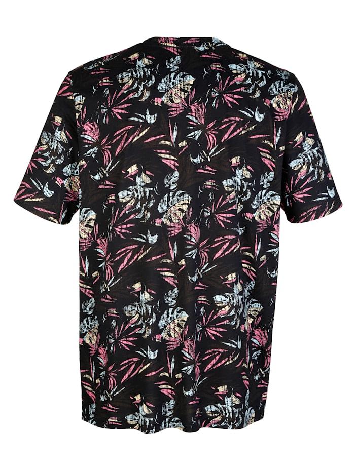 T-Shirt mit Blätter-Druck