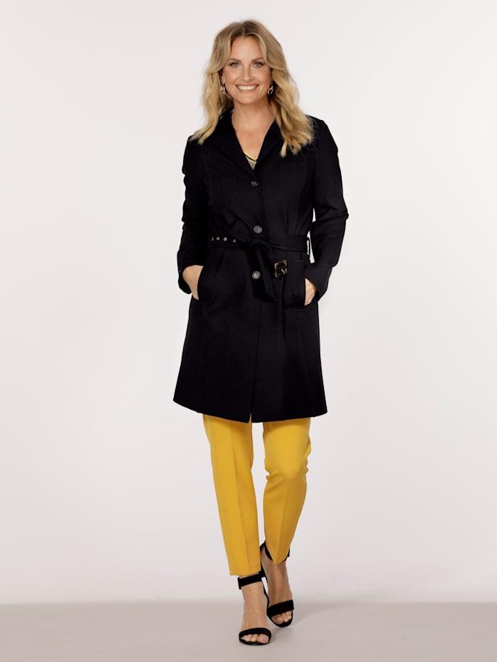 MONA Short coat made from softshell fabric, Black