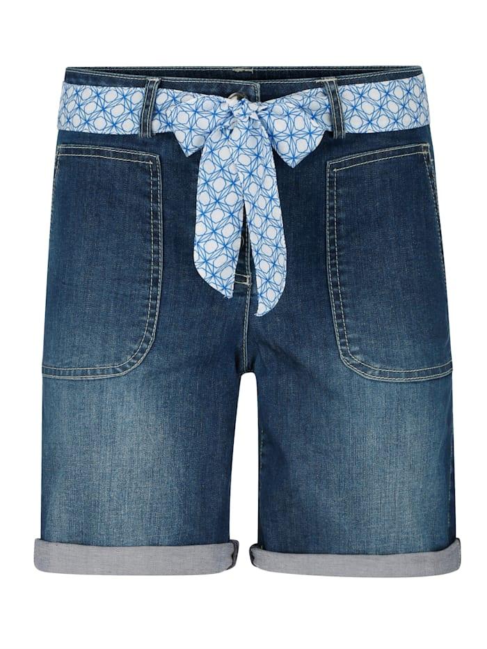 Shorts aus elastischer Denim-Qualität