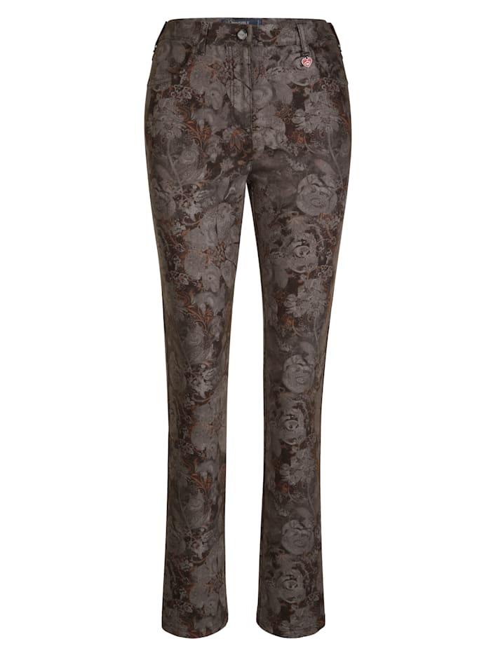 Pantalon à imprimé fleurs devant et dos