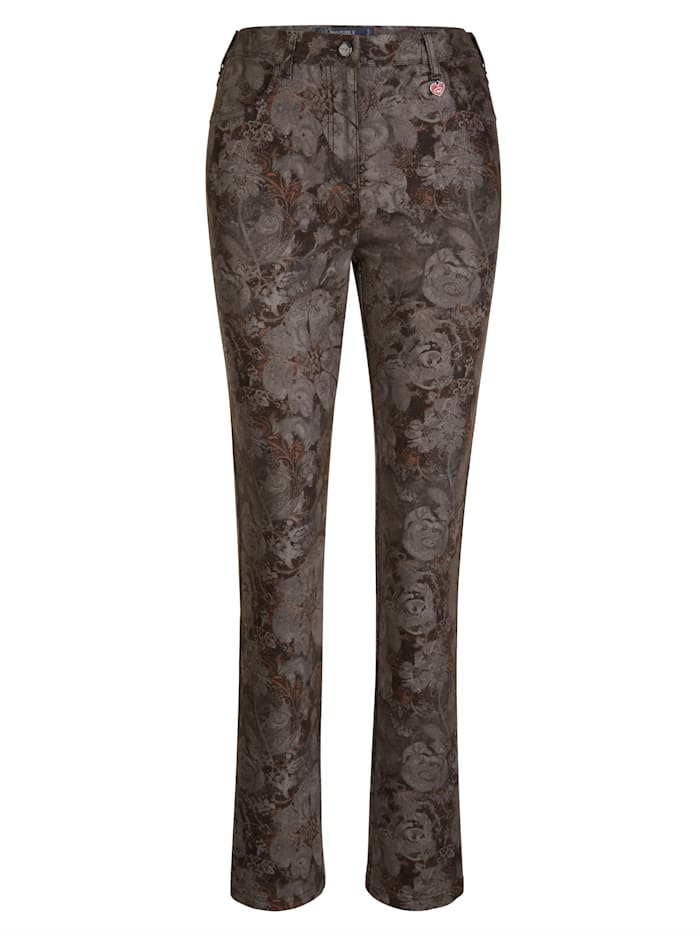 Trousers in an allover floral print