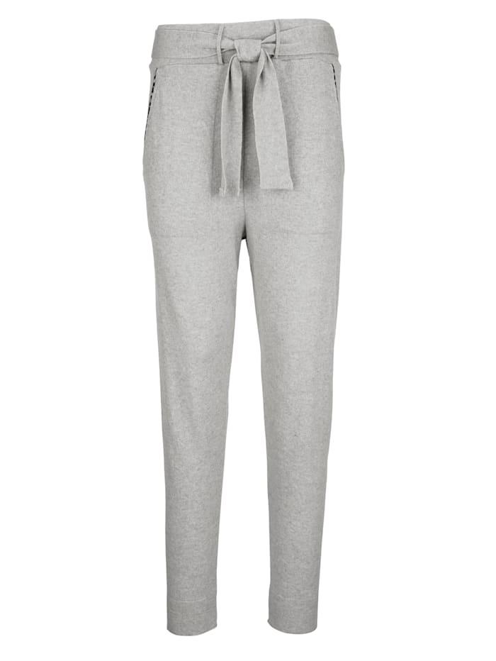 AMY VERMONT Jogginghose mit dekorativen Biesen an den Tascheneingriffen, Grau