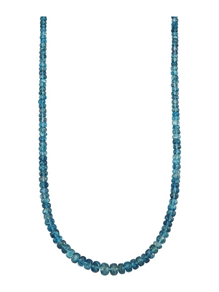 Diemer Farbstein Aquamarin-Collier mit Aquamarin, Blau