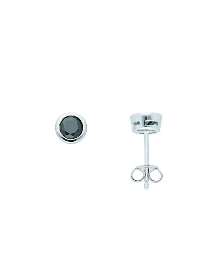 1001 Diamonds Damen Silberschmuck 925 Silber Ohrringe / Ohrstecker mit Zirkonia Ø 6,5 mm, bunt