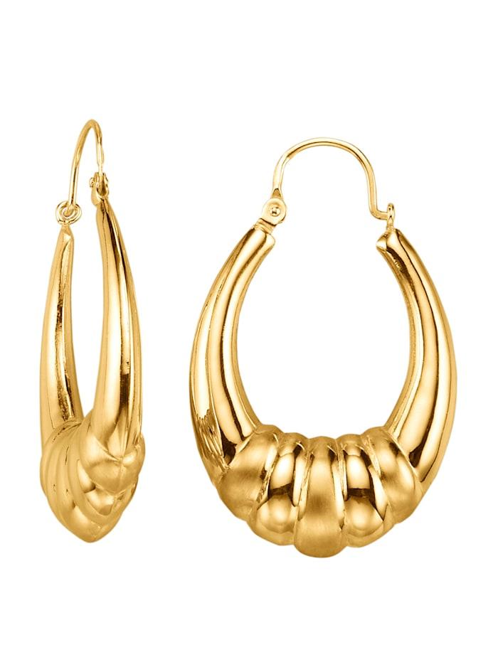 Diemer Gold Creolen in Gelbgold 585, Gelbgoldfarben