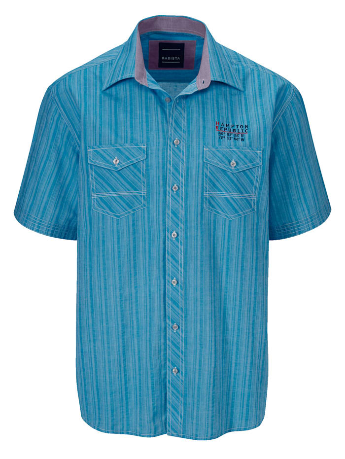 BABISTA Overhemd met twee sluitbare borstzakken, Turquoise