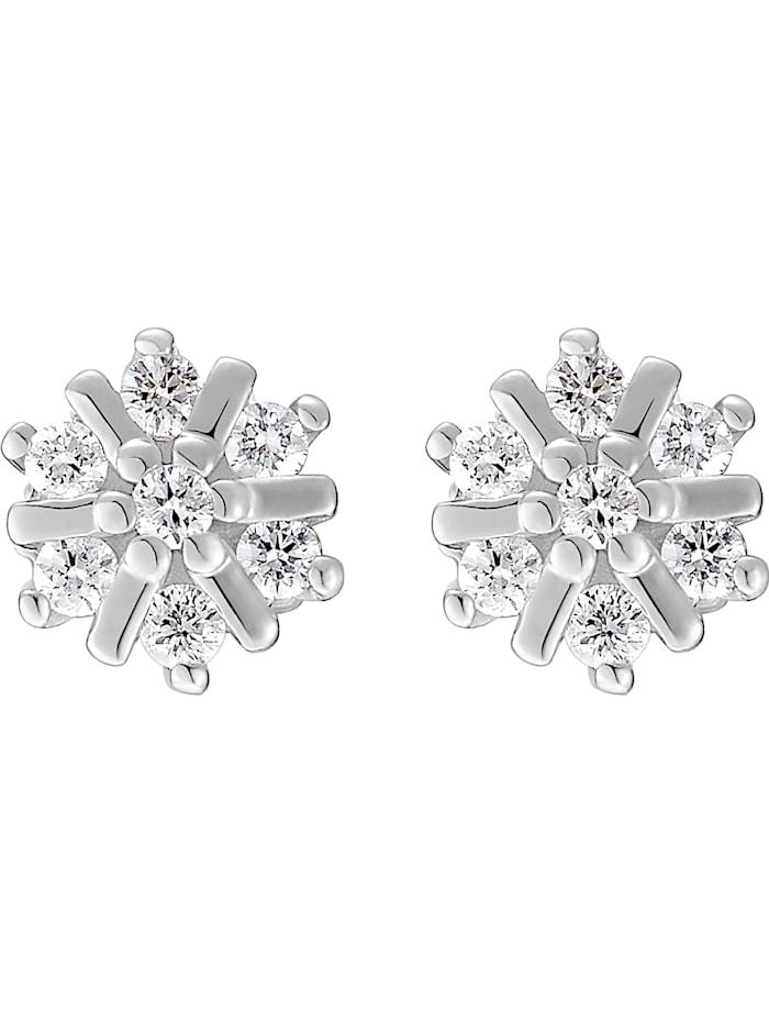 CHRIST Diamonds CHRIST Damen-Ohrstecker 14 Diamant, weißgold
