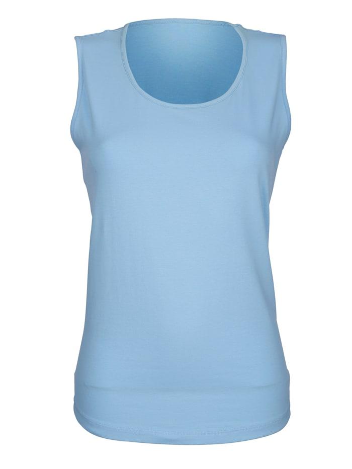 Dress In Topje met hoog katoengehalte, Lichtblauw