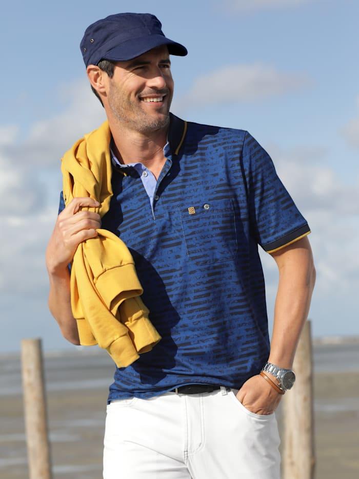 BABISTA Poloshirt Trendy contrasterende details, Blauw