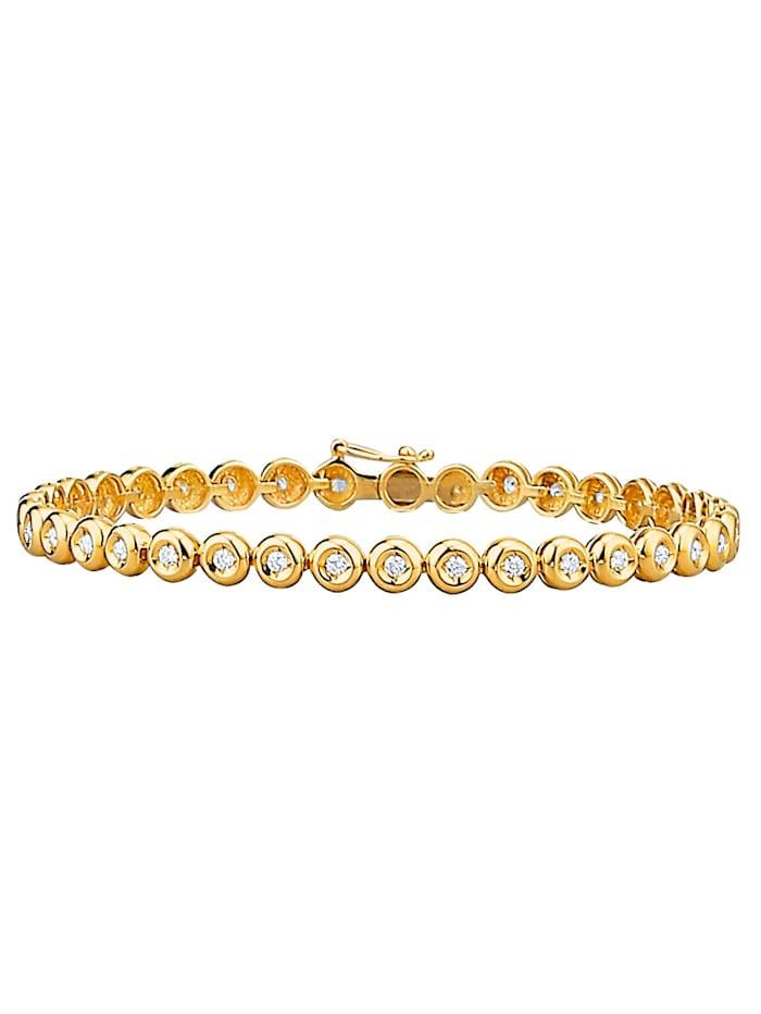 Diemer Highlights Armband mit Brillanten, Gelbgoldfarben