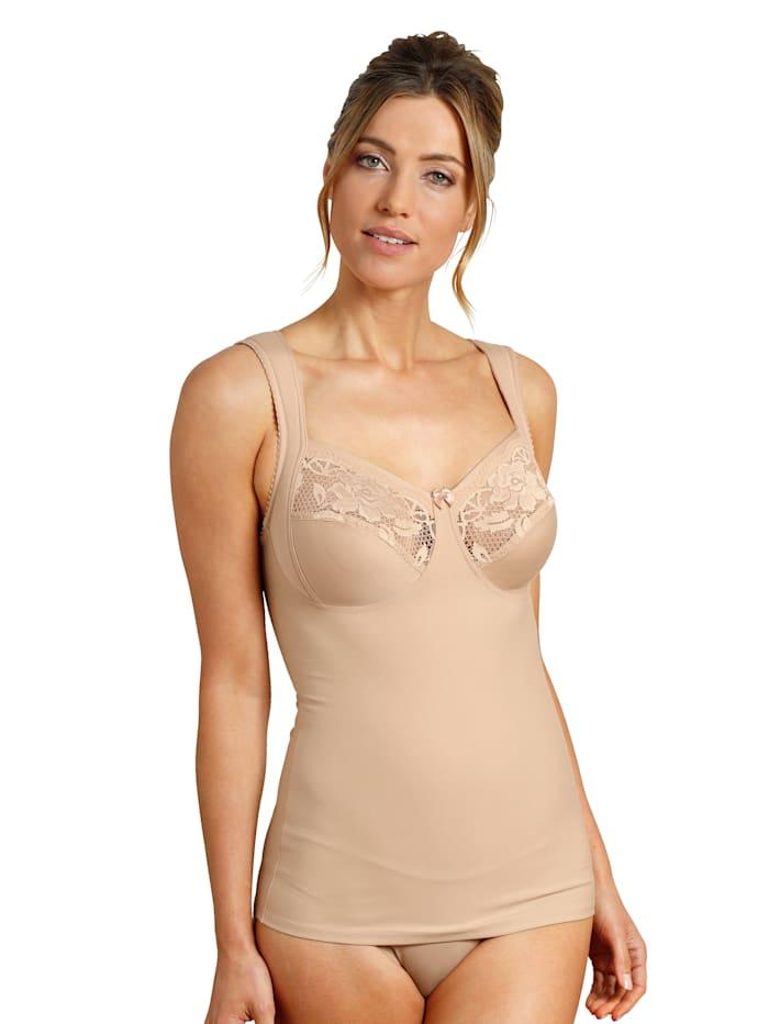 Miss Mary BH - Hemd mit Stütze seitlich, Nude