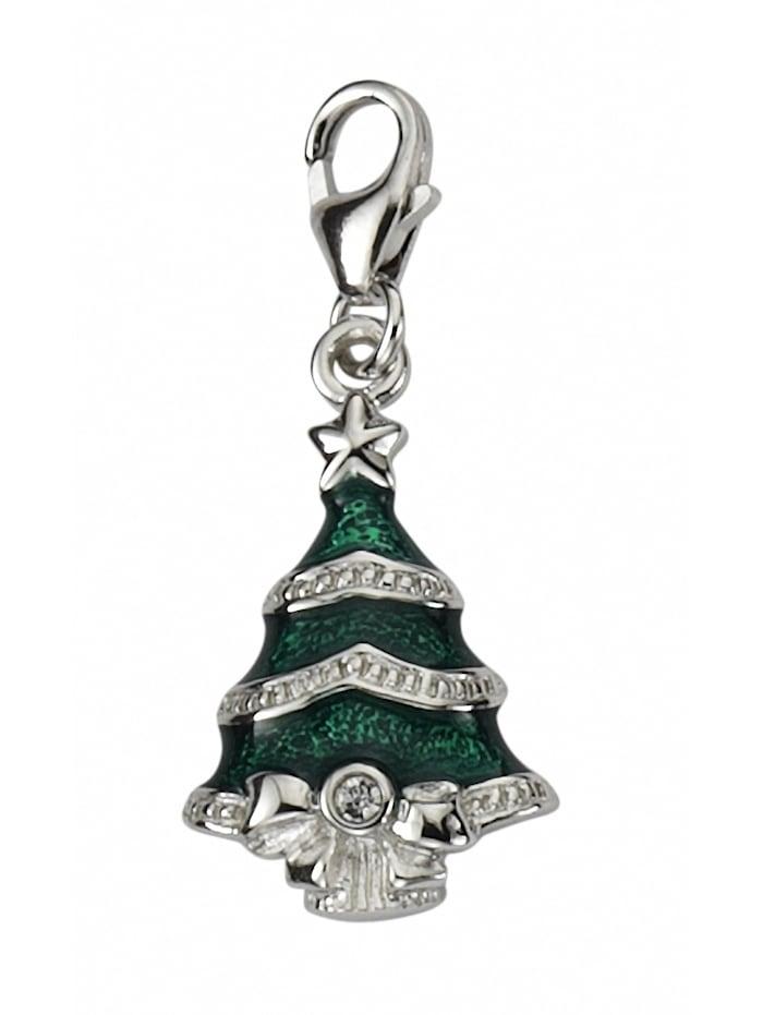 1001 Diamonds Damen Silberschmuck 925 Silber Charms Anhänger Baum mit Zirkonia, silber