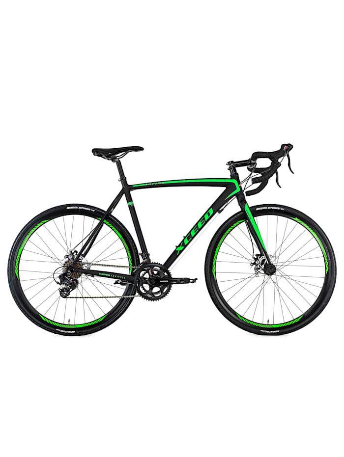KS Cycling Gravelbike Rennrad 28'' Xceed schwarz-grün, schwarz