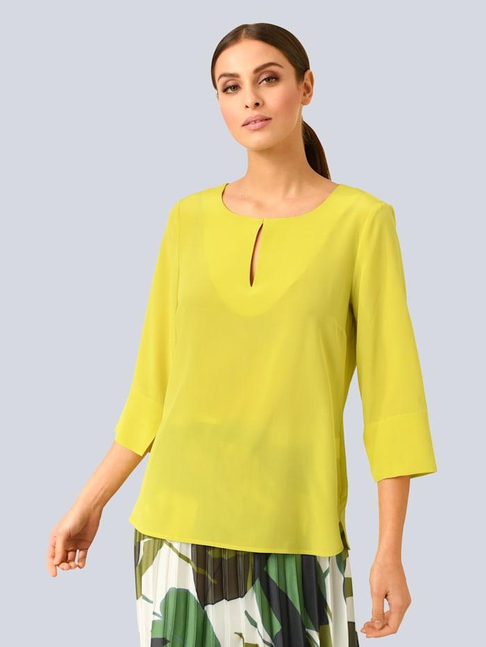 Alba Moda Bluse aus reiner Seide, Grün