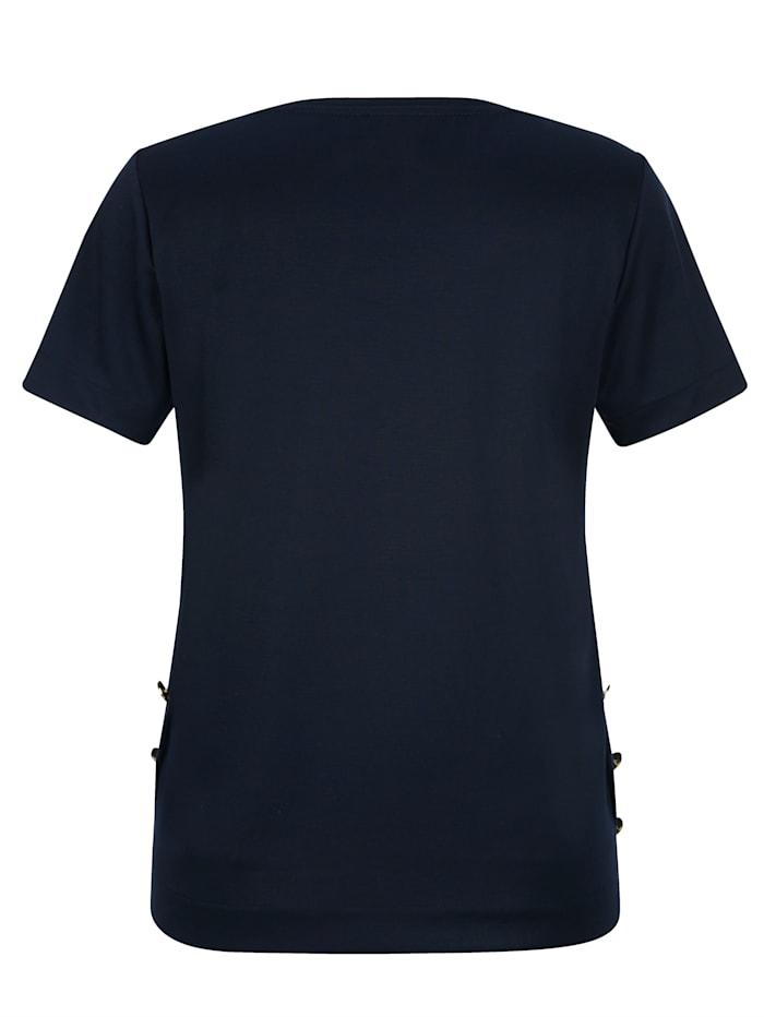 Shirt mit Zierknöpfen