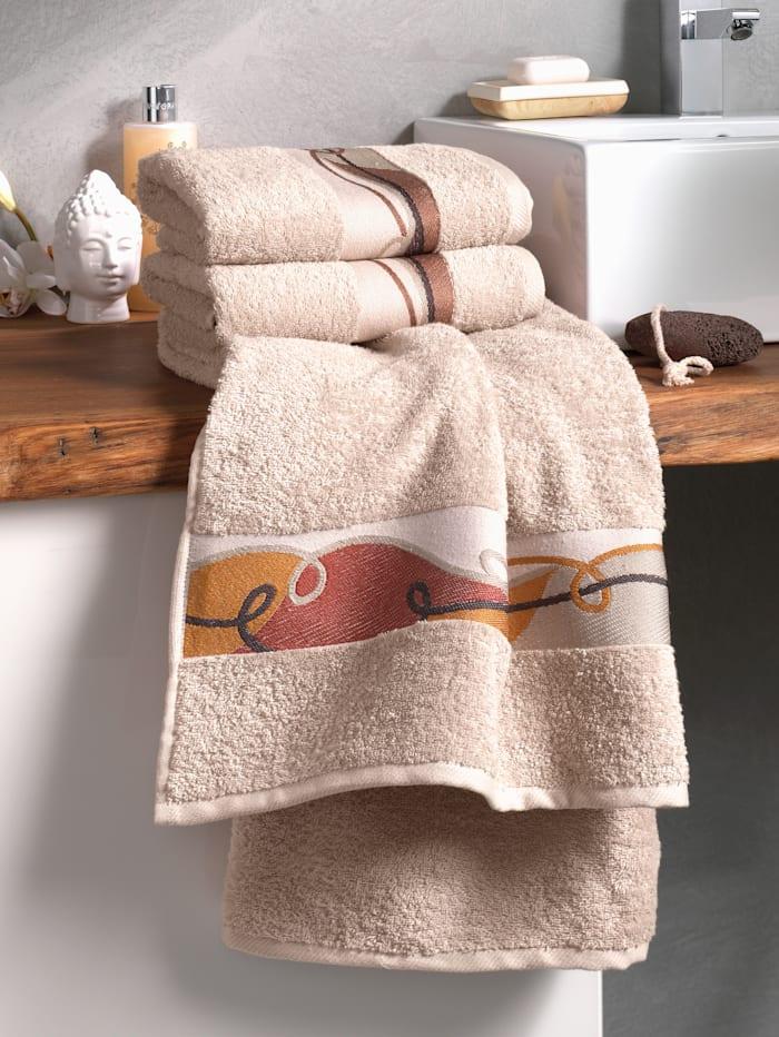 Dyckhoff Handdoeken Carola, Beige/Bruin