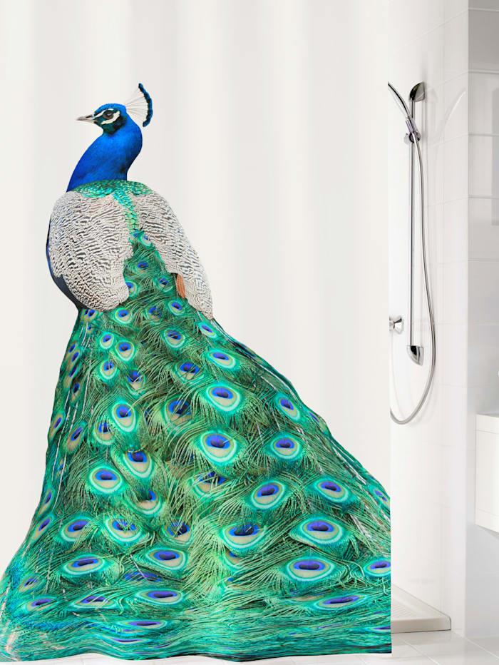 Duschdraperi – Påfågel