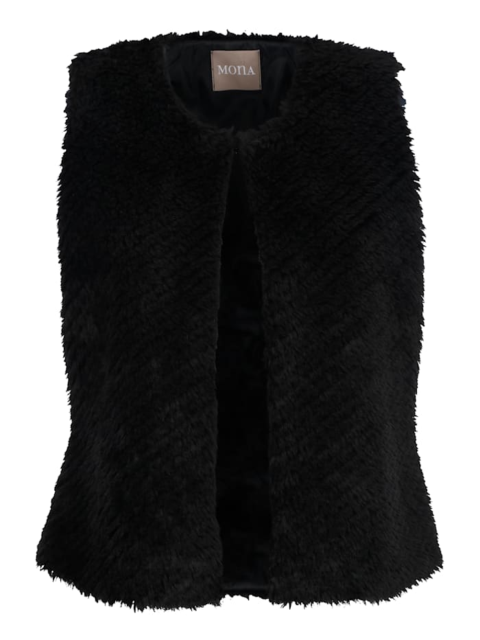 Gilet made from soft faux fur